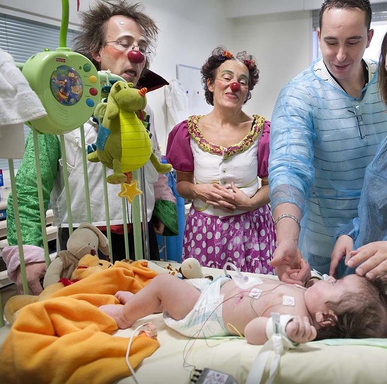 Une journée avec les clowns à l'hôpital