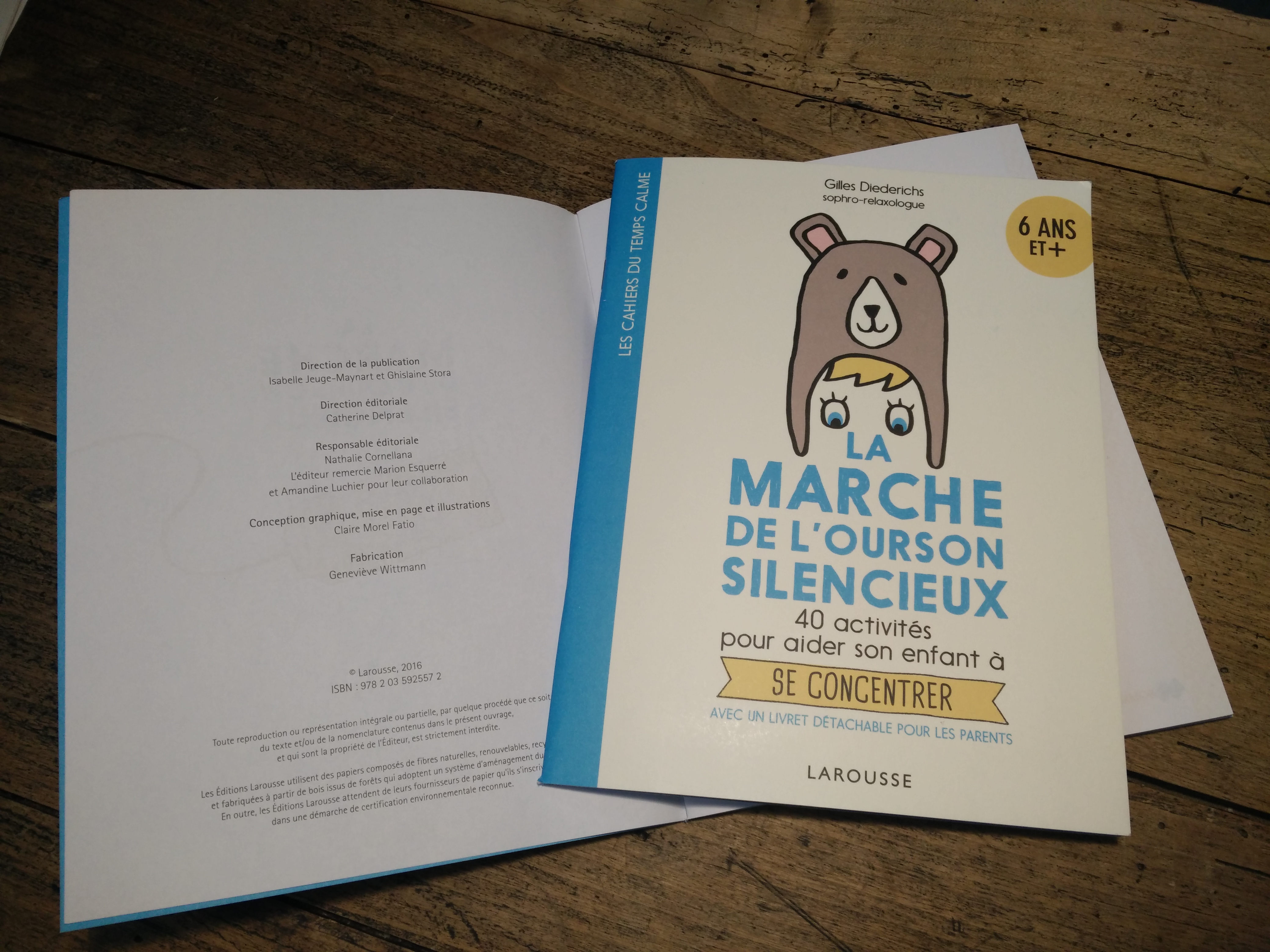 «La marche de l'ourson silencieux», des activités pour se concentrer.